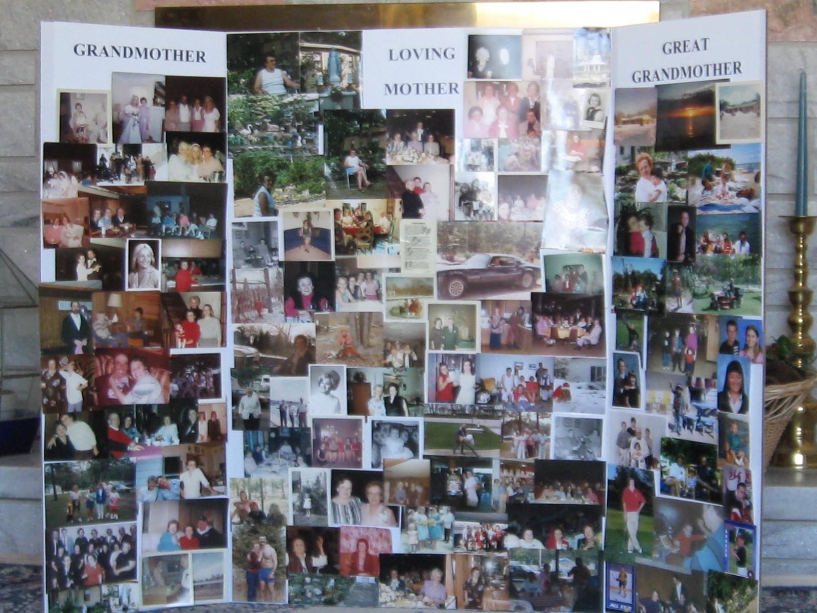 Click The Picture Of Mary S Memorial Board For Her Funeral