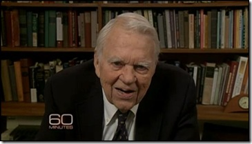 Andy Rooney Finds Mistakes picture from CBS 60 Minutes site