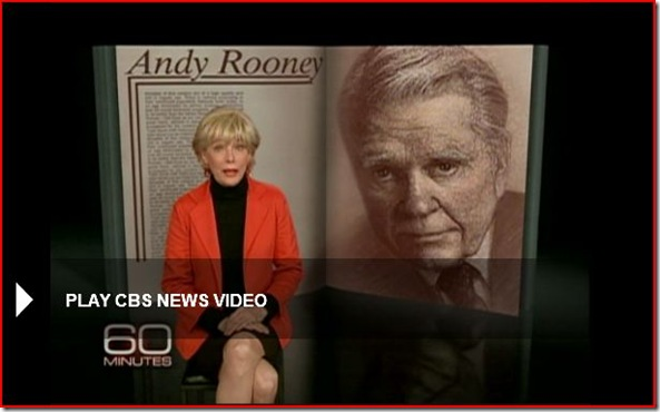 Andy Rooney Likes His Job picture from CBS 60 Minutes Video
