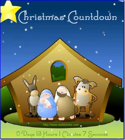 Christmas Countdown picture from Widdly Tinks