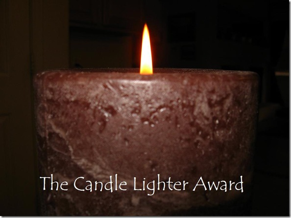 The Candle Lighter Award picture from the Believe Anyway Site (edited)