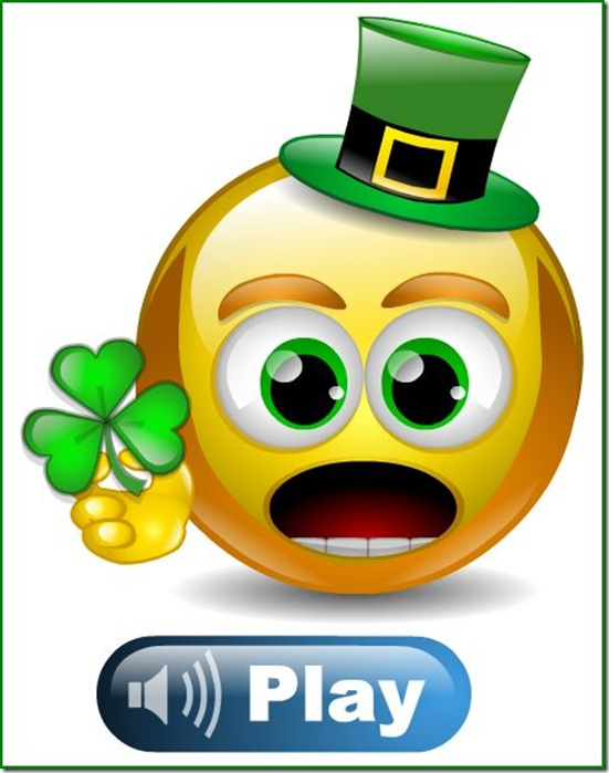 Everybody's Irish on Saint Patty's Day  — Talking smiley face from Smiley Central