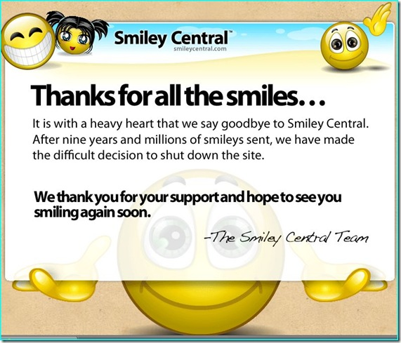 Smiley Central is Shut Down