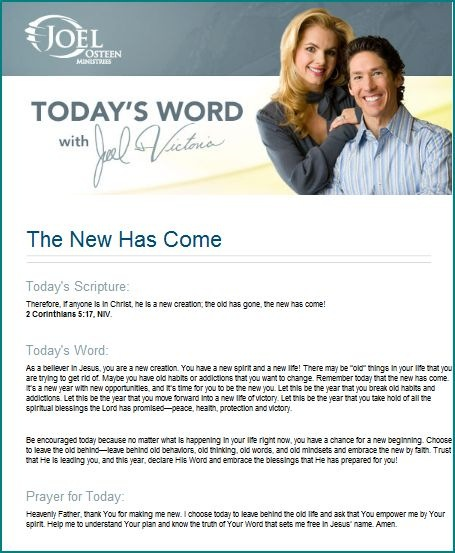 a new years message from joel osteen