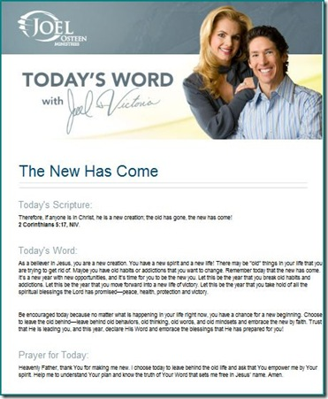A New Year's message from Joel Osteen